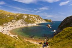 Jurassic Coastline around Durdle Door - stock photo
