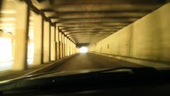 Rocky Mountain tunnel. BC, Canada. Stock Footage