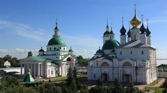 ROSTOV.RUSSIA - 2012:  Spaso-Yakovlevsky Monastery. Above view Stock Footage