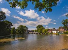 Fordingbridge and the River Avon in Hampshire - stock photo