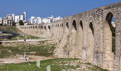 Roman Aquaduct in Larnaca, Cyprus Stock Photos