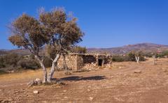 The arid inland areas of the Akamas Peninsula Stock Photos