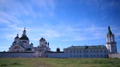 ROSTOV.RUSSIA - 2012:  Spaso-Yakovlevsky Monastery. General view Stock Footage