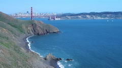 San Francisco from Marin Headlands Stock Footage