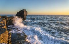 Pulpit Rock in Stormy Seas Stock Photos