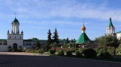 ROSTOV.RUSSIA - 2012: Spaso-Yakovlevsky Monastery. Inside Stock Footage
