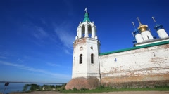ROSTOV.RUSSIA - 2012:  Spaso-Yakovlevsky Monastery. Outside walls - stock footage