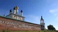ROSTOV.RUSSIA - 2012:  Spaso-Yakovlevsky Monastery. Outside walls Stock Footage