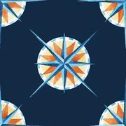Wind rose pattern - stock illustration