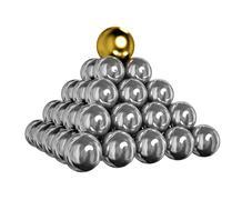 Balls Pyramid - stock illustration