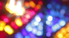 Stained glass windows out of focus Stock Footage