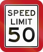 Texas Speed Limit Sign - stock illustration