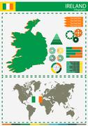 vector Ireland illustration country nation national culture concept - stock illustration
