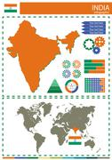 vector India illustration country nation national culture concept - stock illustration