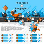 Road Repair Infographics - stock illustration