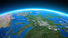 Earth seen from space. Europe and North America. Loopable. Stock Footage