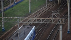 RUSSIA.TRANSPORT- 2012: Above view of the trains Stock Footage
