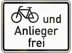 Cyclists And Residents Allowed Stock Illustration