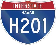 Stock Illustration of Interstate Route Shield - Hawaii
