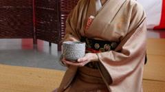 Japanese Tea Ceremony Van Dusen Garden Vancouver BC Canada Stock Footage
