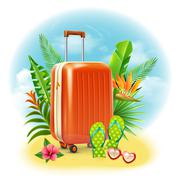 Travel Suitcase Design Stock Illustration