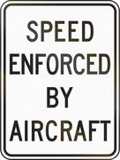 Speed Enforced By Aircraft - stock illustration