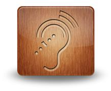 Stock Illustration of Icon, Button, Pictogram Hearing Impairrment