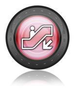 Icon, Button, Pictogram Escalator Down - stock illustration