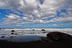 Mood by the sea at La Gomera, Canary Island - stock photo