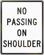 No Passing On Shoulder Stock Illustration