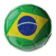 Soccer ball. Flag of Brazil Stock Illustration