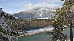 Winter mountain river (Austria,Tirol) Stock Footage
