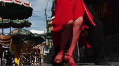 Buenos Aires Tango Dancers Stock Footage