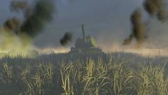 Russian Tank T 34 front view Stock Footage