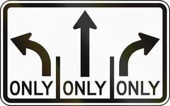 Turn Only Lanes - stock illustration