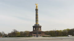 Victory column in Berlin Stock Footage