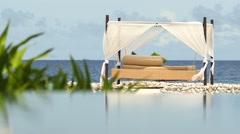 Stock Video Footage of Beautiful Maldives sandy beach