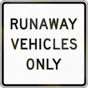 Runaway Vehicles Only - stock illustration
