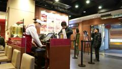 Cashier desk in fast-food restaurant Arkistovideo