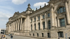 Reichstag Berlin, sideview - stock footage