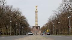 Victory Column, Berlin Stock Footage
