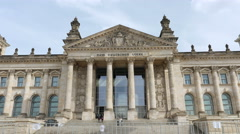 Reichstag Berlin, medium shot Stock Footage