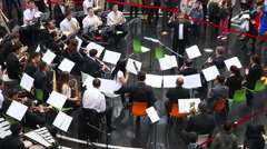 Philharmonic Orchestra concert  Stock Footage