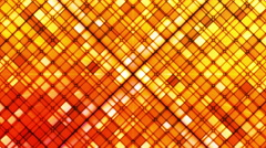 Broadcast Twinkling Cubic Diamonds, Orange, Abstract, Loopable, HD Stock Footage