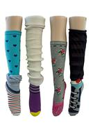 fanciful and colorful socks isolated - stock photo