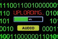 Upload audio Stock Photos