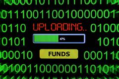 Upload funds - stock photo