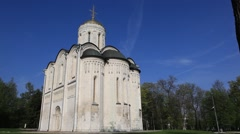 VLADIMIR.RUSSIA - 2013: Cathedral of Saint Demetrius Stock Footage