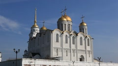 VLADIMIR.RUSSIA - 2013: Dormition Cathedral Stock Footage