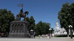 VLADIMIR.RUSSIA - 2013: Monument of Vladimir Stock Footage